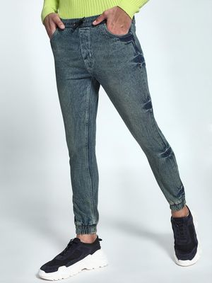 K Denim KOOVS Acid Wash Peg Denim Joggers