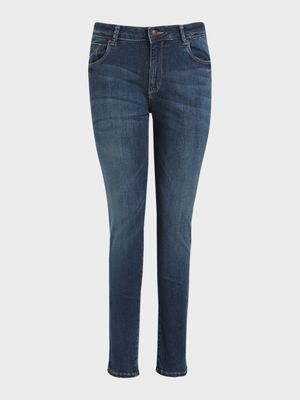 Flying Machine Dark Wash Skinny Jeans