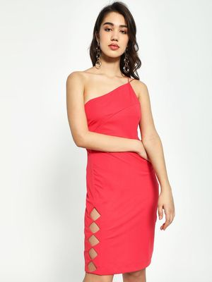 KOOVS One Shoulder Bodycon Dress