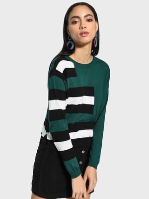 Akiva Colour Block Striped Pullover
