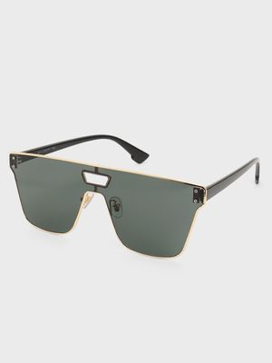 Pataaka Metal Trim Frameless Classic Sunglasses