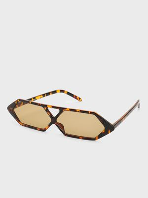 Pataaka Tortoise Shell Hexagon Retro Sunglasses