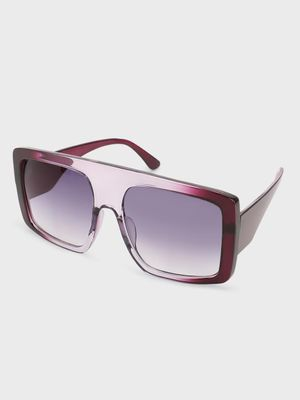 Pataaka Two-Tone Tinted Lens Square Sunglasses