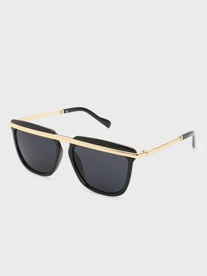 Pataaka Metal Browbar Square Sunglasses