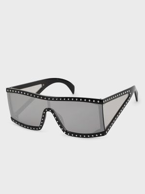 Pataaka Studded Frame Retro Sunglasses