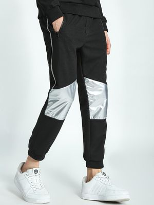 KOOVS Metallic Panel Cropped Joggers