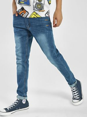 Kultprit Light Wash Slim Jeans