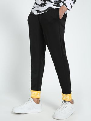 KOOVS Text Printed Hem Trousers