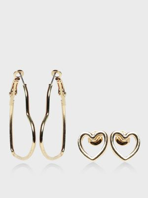 Funky Fish Heart Shaped Earrings Set