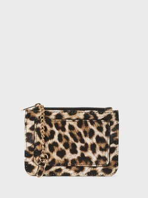 Funky Fish Leopard Print Zippered Card Holder