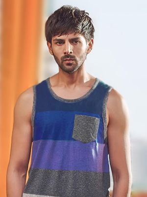 Bollywoo In The Style Of Kartik Aaryan Colour Block Vest