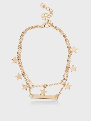 Style Fiesta Mini Star Layered Anklet
