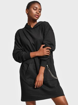 KOOVS Chain Detail Longline Sweat Dress