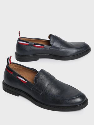 Corso Venezia Contrast Side Tape Penny Loafers