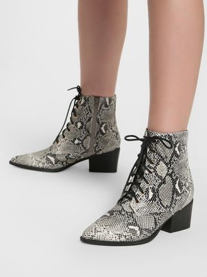 Intoto Animal Print Lace-Up Ankle Boots