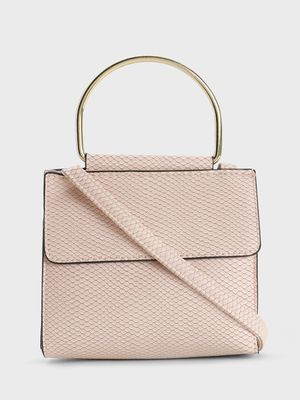 New Look Snakeskin Mini Sling Bag