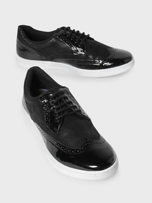 KOOVS Brogue Punches Lace-Up Sneakers