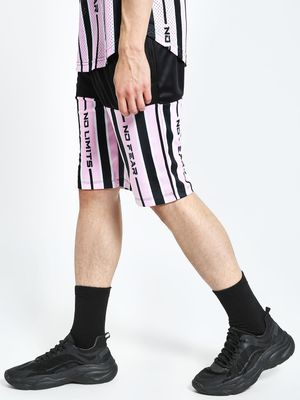 K ACTIVE KOOVS No Limits Vertical Stripe Shorts