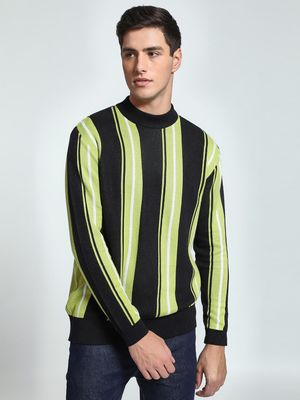 KOOVS Vertical Multi-Stripe Sweater