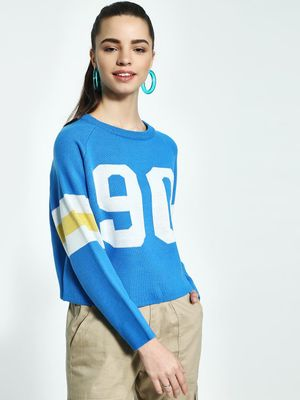 KOOVS Colour Block Baseball Jumper