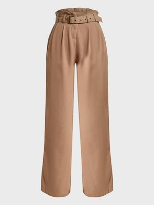 Iris Paperbag Belted Waist Flared Trousers