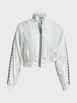 Iris Love Tape Windbreaker Crop Jacket