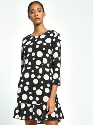 Ri-Dress Polka Dot Print Skater Dress