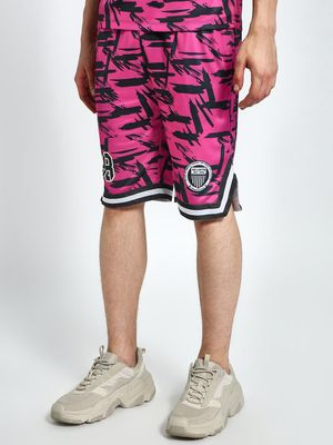 K ACTIVE KOOVS League 1 Abstract Print Baseball Shorts