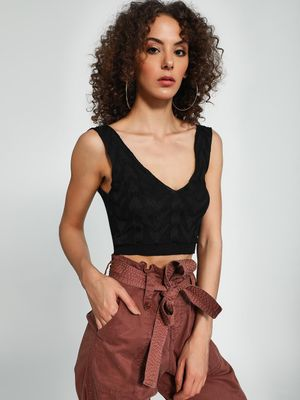 Trendyol Plunge V-Neck Crop Top