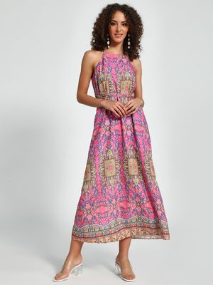 Trendyol Mixed Print Midi Dress