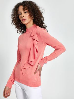 Trendyol Turtle Neck Ruffled Pullover