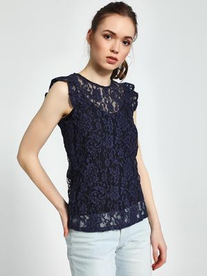 Trendyol Crew Neck Lace Top