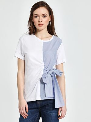 Trendyol Half Striped Tie-Knot Blouse