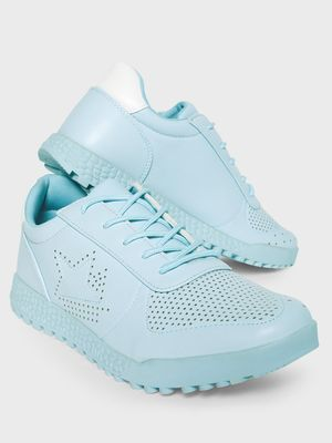 KOOVS Perforation Star Cleated Sole Sneakers