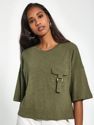 Sbuys Patch Pocket Boxy T-Shirt