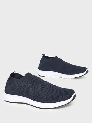 KOOVS Contrast Sole Knitted Sockliner Shoes