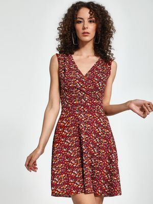 Trendyol Floral Print Mini Skater Dress