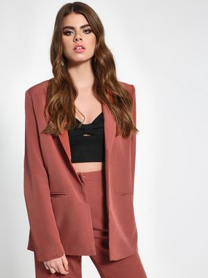 Missguided Notched Lapel Collar Longline Blazer