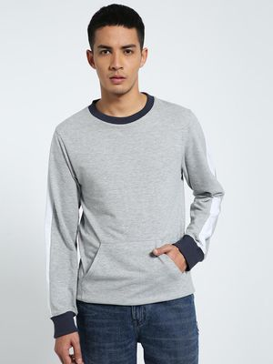 CHELSEA KING Contrast Tape Crew Neck Sweatshirt