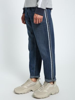 CHELSEA KING Contrast Tape Washed Regular Jeans