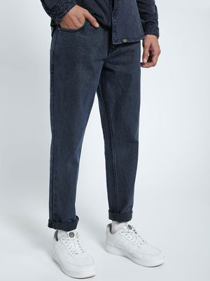 CHELSEA KING Acid Wash Overdyed Regular Jeans