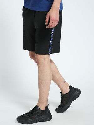 CHELSEA KING Textured Contrast Tape Shorts
