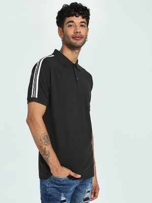 CHELSEA KING Shoulder Tape Pique Polo Shirt