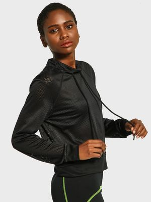 K ACTIVE KOOVS Mesh Funnel Neck Sweatshirt