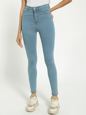 Blue Saint Light-Wash High Waist Skinny Jeans