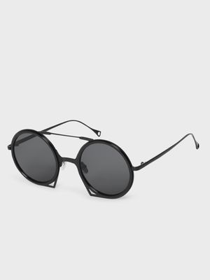 KOOVS Coloured Lens Round Sunglasses