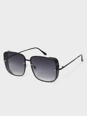 KOOVS Side-Shield Ombre Tinted Square Sunglasses