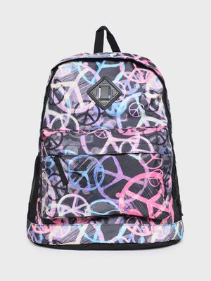 KOOVS All Over Peace Print Backpack