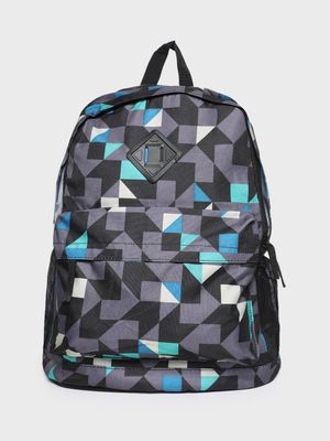 KOOVS Geometric Print Backpack