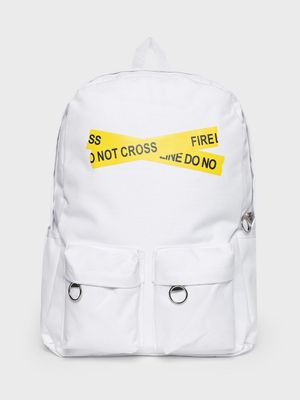 KOOVS Text Cross Tape Backpack
